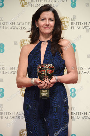 Stock Picture of Christine Langan (C) accepts award for Outstanding British Contribution to Cinema won by BBC Films