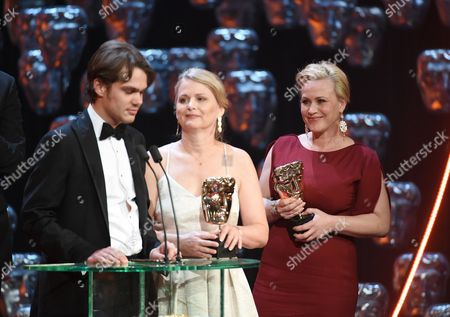 Ellar Coltrane, Patricia Arquette and Cathleen Sutherland - Winner of the Best Film Award - Boyhood