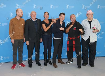 Screenwriters Nicolas Woche, Juergen Lemke, Katy Karrenbauer, Hanno Koffler, Andreas Marquardt and Director Rosa von Praunheim