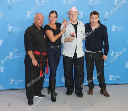 Andreas Marquardt, Katy Karrenbauer, Director Rosa von Praunheim and actor Hanno KoffleR