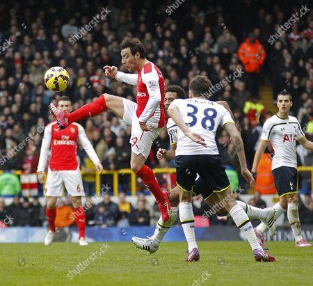 Arsenal's Santi Cazorla in action