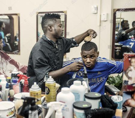 Warren Weir at the barbers