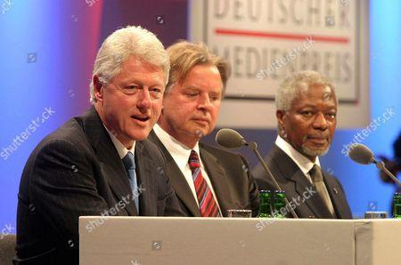 Stock Photo of BILL CLINTON, KARLHEINZ KOGEL AND KOFI ANNAN