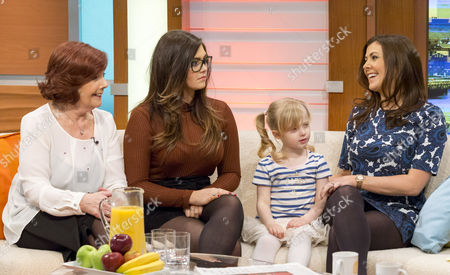 Emily Cunliffe, Polly Lomas and Kym Marsh