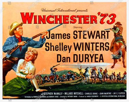 'Winchester '73' a 1950 American Western film starring James Stewart, Shelley Winters and Dan Duryea.