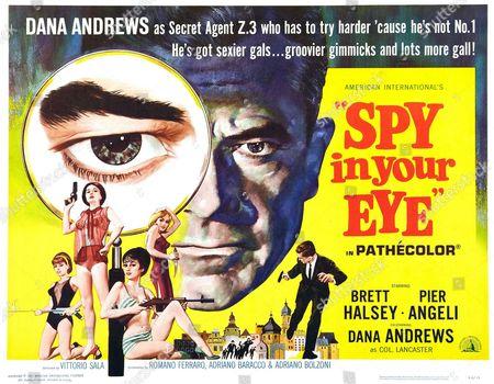 'Spy in your Eye', 1965, starring Brett Halsey, Pier Angeli and Dana Andrews.
