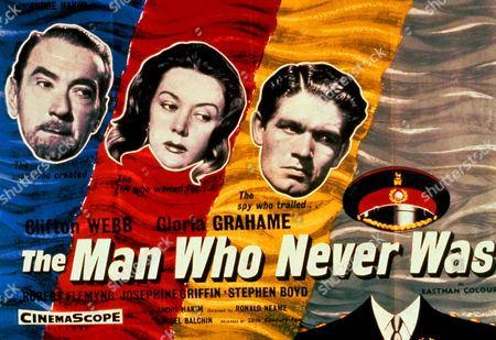 'The Man Who Never Was' a World War II movie starring Clifton Webb and Gloria Grahame.