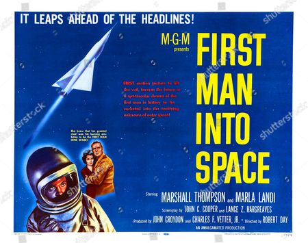 'First Man Into Space' a 1959 science fiction horror starring Marshall Thompson and Marla Landi.