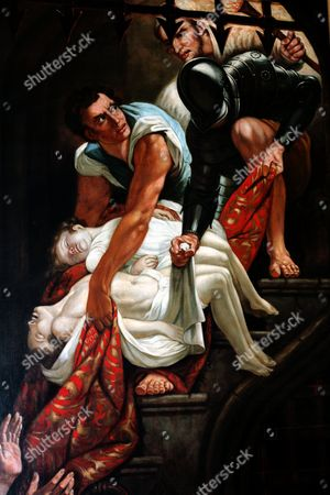 Murder of the Princes in the Tower by James Northcote (1746-1831).