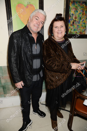 Stock Image of Tim Banks and Suzy Menkes