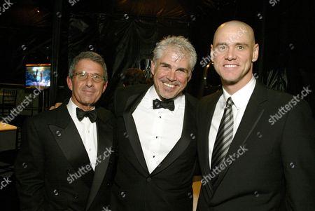 Ron Meyer, Gary Ross and Jim Carrey