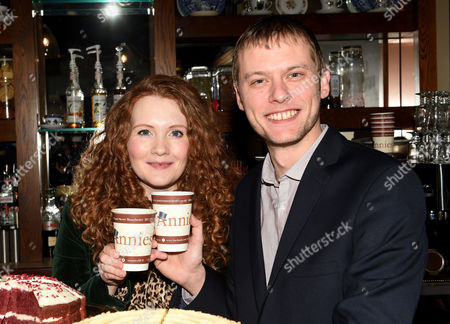 Stock Image of Jennie McAlpine and partner Chris Farr