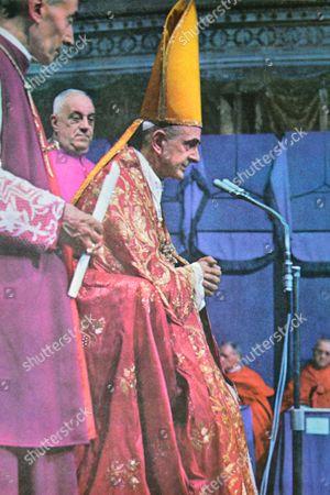 Stock Image of Pope Paul VI, born Giovanni Battista Enrico Antonio Maria Montini 26 September 1897 - 6 August 1978, reigned from 21 June 1963 to his death in 1978..