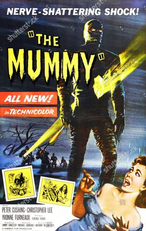 The Mummy is a 1959 British horror film, directed by Terence Fisher and starring Christopher Lee and Peter Cushing. It was written by Jimmy Sangster and produced by Michael Carreras and Anthony Nelson Keys for Hammer Film Productions. Though the title suggests similarities with Universal Pictures' 1932 film of the same name, the film actually derives its plot and characters entirely from two later Universal films..