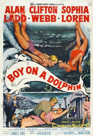Boy on a Dolphin is a 1957 romantic film set in Greece. It was directed by Jean Negulesco and based on the novel by David Divine. The film is noteworthy as Sophia Loren's English language debut. Also starring Alan Ladd and Clifton Webb..