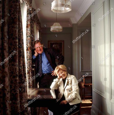 Sir Bernard Ingham and Janet Brown