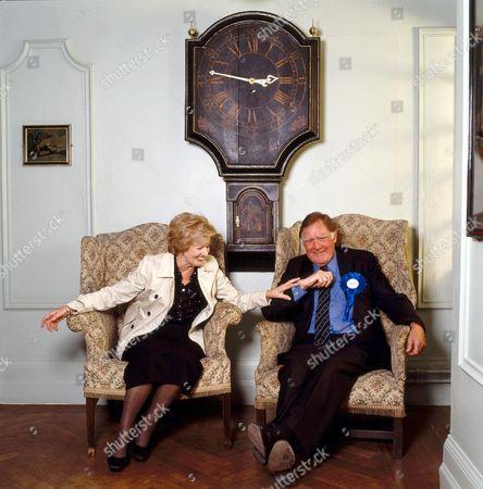 Janet Brown and Sir Bernard Ingham