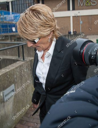 Linda Henry arriving at Bexley Magistrates court.
