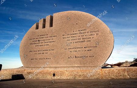 The Swissair 111 memorial at Peggy Cove, Nova Scotia.