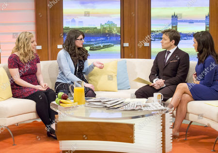 Megan Pridden and Stacie Pridden with Presenters Susanna Reid and Ben Shephard