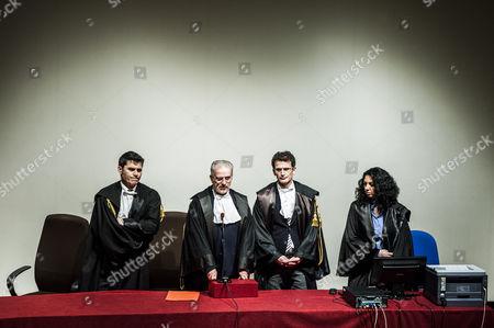 Judges read out the guilty verdict