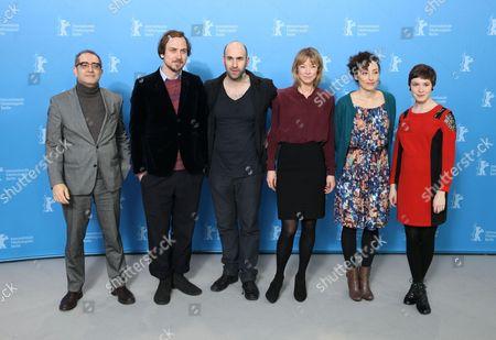 Producer Samir, Lars Eidinger, Urs Jucker, Jenny Schily, Stina Werenfels and Victoria Schulz