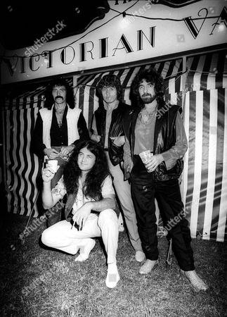 BLACK SABBATH - IAN GILLAN, TONY IOMMI, GEEZER BUTLER AND BEV BEVAN - AUG 1983