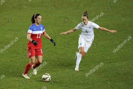 Lauren Holiday of USA and Jo Potter of England