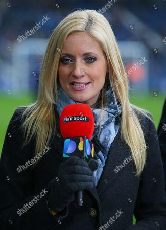 BT Sport presenter Lynsey Hipgrave working pitchside