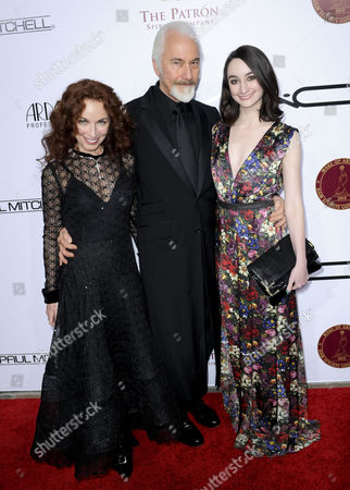 Rick Baker, wife Silvia Abascal and daughter Veronica
