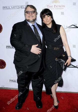 Stock Picture of Guillermo Del Toro & wife Lorenza Newton