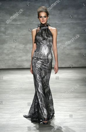 Stock Image of Model on catwalk