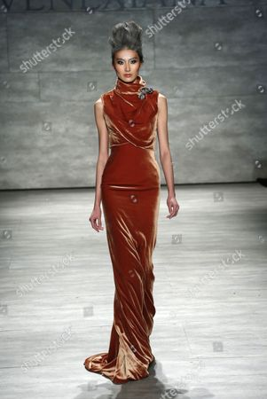 Editorial picture of Venexiana show, Autumn Winter 2015, Mercedes-Benz Fashion Week, New York, America - 15 Feb 2015