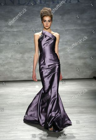 Editorial image of Venexiana show, Autumn Winter 2015, Mercedes-Benz Fashion Week, New York, America - 15 Feb 2015