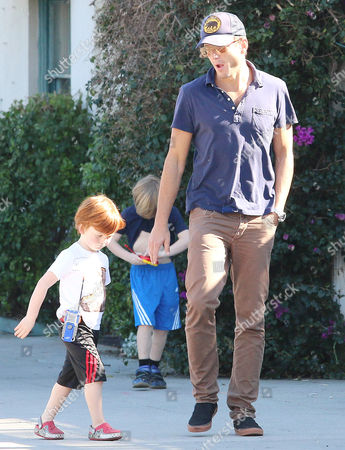 Editorial photo of Will Arnett and family out and about in Los Angeles, America - 15 Feb 2015