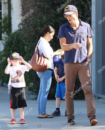 Editorial picture of Will Arnett and family out and about in Los Angeles, America - 15 Feb 2015