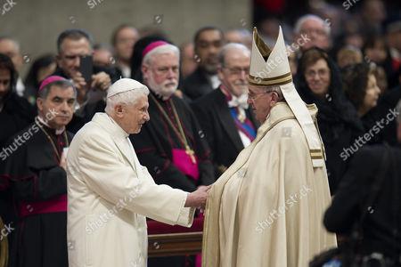 Pope Emeritus Pope Benedict XVI with Pope Francis I