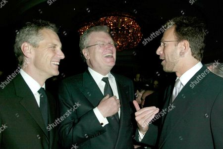 John Sykes, Sir Howard Stringer and Edgar Bronfman Jr.