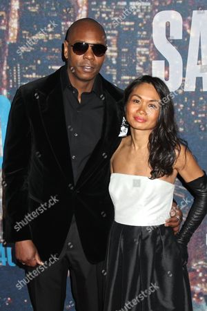 Stock Image of Dave Chappelle and Elaine Chappelle