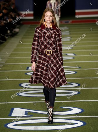 Hollie-May Saker on the catwalk