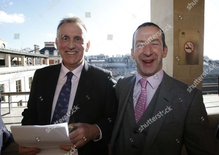 Phil Smith Haddicapper with Jim Culloty at The Royal Opera House for The Grand National Weights Lunch. Grand National weights