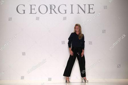 Editorial image of Georgine show, Autumn Winter 2015, Mercedes-Benz Fashion Week, New York, America - 17 Feb 2015