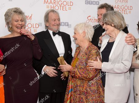 Guest, Ronald Pickup, Judi Dench, John Madden and Dame Maggie Smith