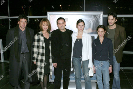 L-R - PATRICK BRUEL, NATHALIE BAYE, DIRECTOR THIERRY KLIFA AND CLOTILDE COURAU