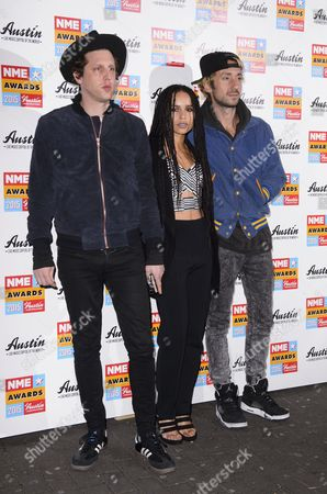 Stock Photo of James Levy, Zoe Kravitz and Jimmy Giannopoulos