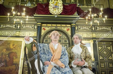 Mark Rylance as King Philippe, Sam Crane as Farinelli