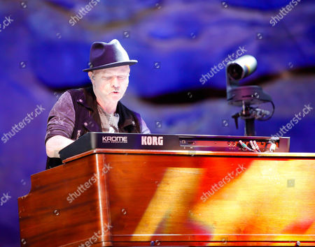 Neal Doughty performing on stage