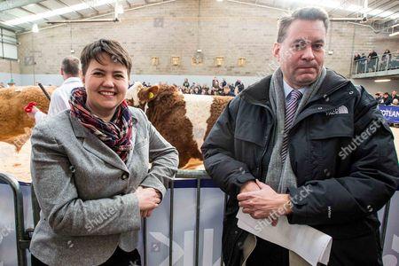 Editorial picture of Scottish Conservative leader Ruth Davidson at Stirling livestock auction, Scotland, Britain - 16 Feb 2015