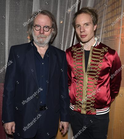 Stock Photo of Benny Andersson with his son Ludvig Andersson