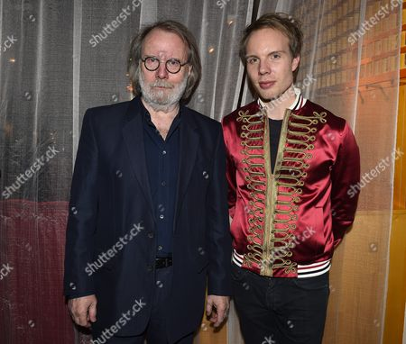 Stock Image of Benny Andersson with his son Ludvig Andersson